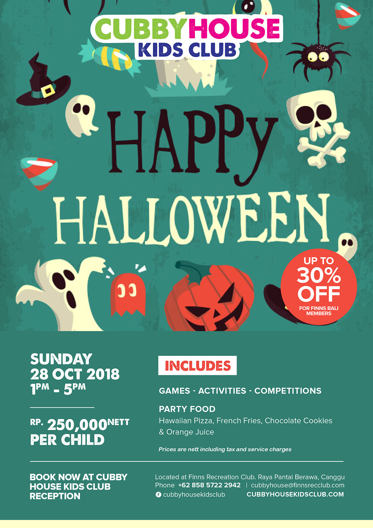 Happy Halloween - 28 October 2018 - Cubby House Kids Club Bali